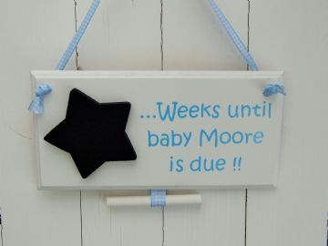 Baby Due date Chalkboard Plaque